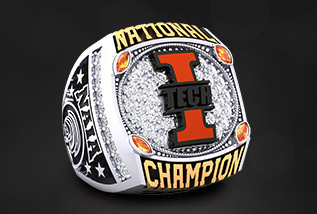 NAIA Championship Ring Package by Baron: The Sun, Division, GCAC, America Midwest, AAC, CACC, National, conference