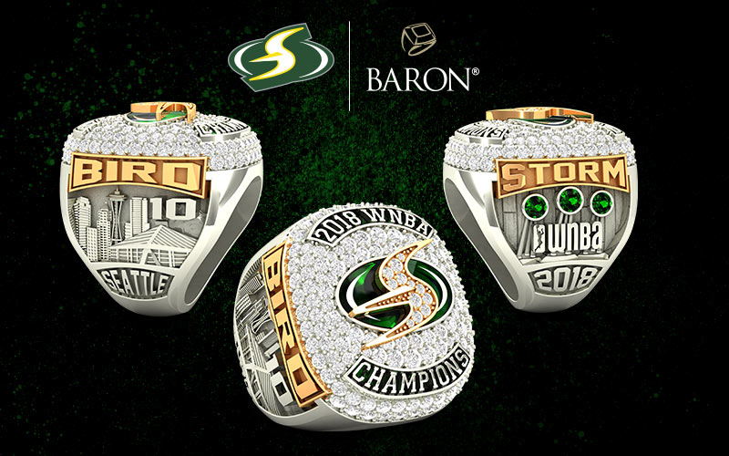 2018 Seattle Storm WNBA Championship Ring