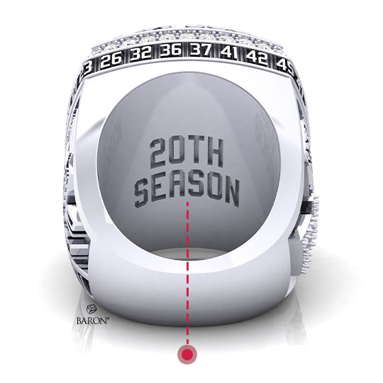 Baron Championship Rings Blog-2018 Seattle Storm WNBA Championship Ring-Left Side, Emerald stones, Diamonds, Seattle Storm logo, Basketball Rings