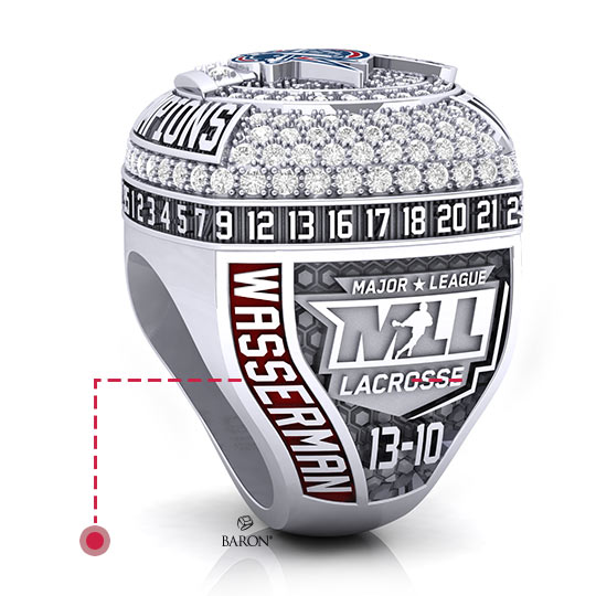 Baron Championship Rings Blog-2018 Seattle Storm WNBA Championship Ring-Right Side, Emerald stones, Diamonds, Seattle Storm logo, Basketball Rings
