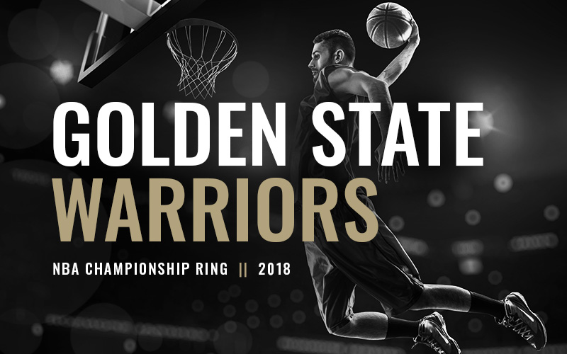 2018 Golden State Warriors NBA Championship Ring