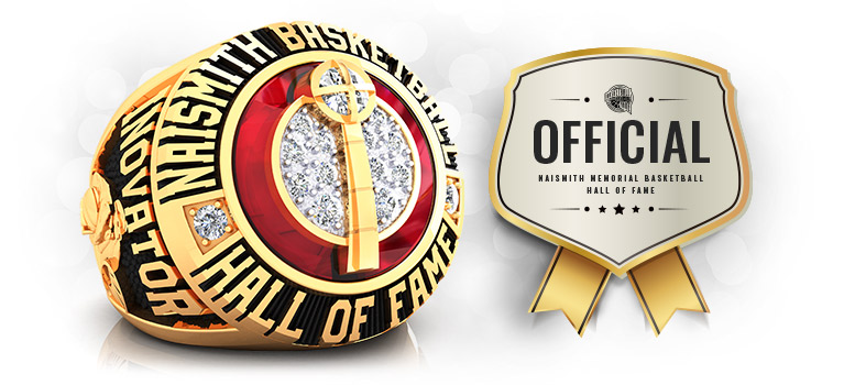Official Naismith Basketball Hall of fame ring by Baron Championship Rings with certificate Order Today