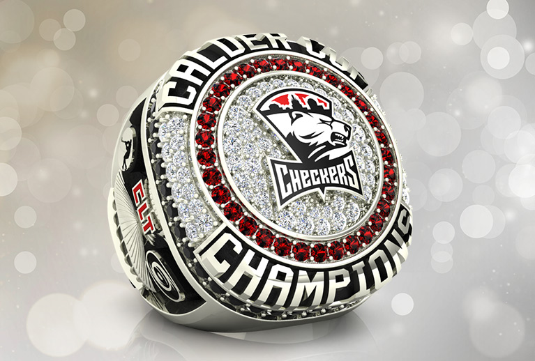 Hockey Championship Ring Package by Baron Rings: Kelly Cup, Calder Cup, AHL, ACHL, ECHL, ECAC, OMHA. State, National, Hockey Leagues