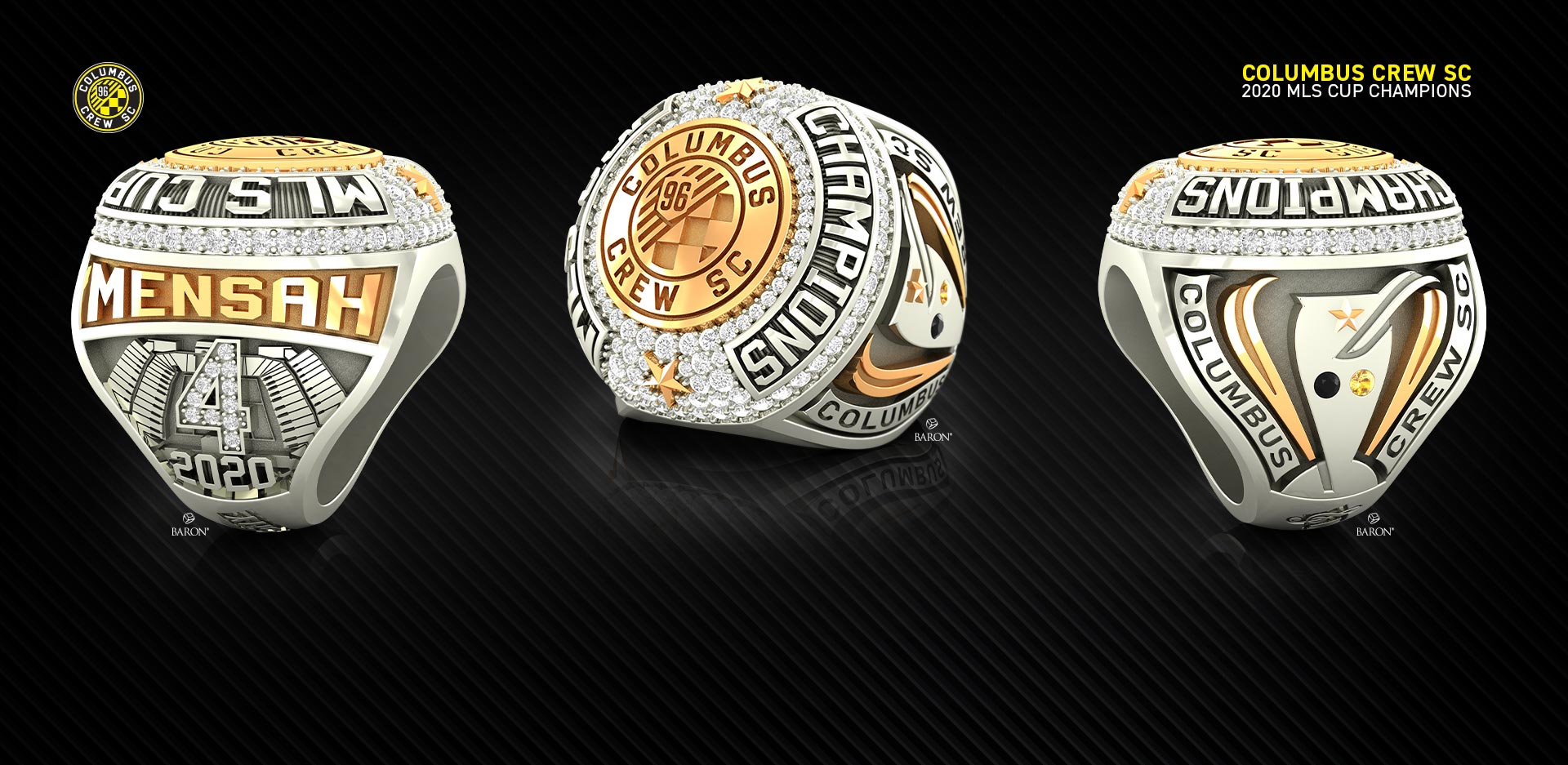 The Official Seattle Storm 2020 WNBA Championship Ring by Baron® Championship Rings green storm background